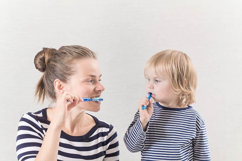 Competición de limpieza de dientes